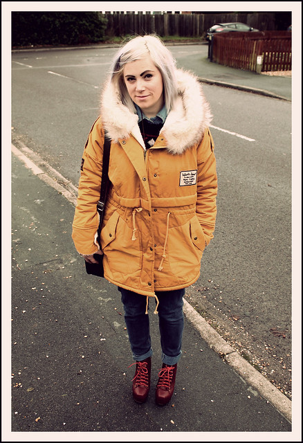 Outfit post parka jacket