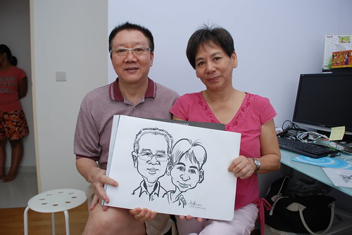 caricature live sketching for birthday party 10032012 - 6