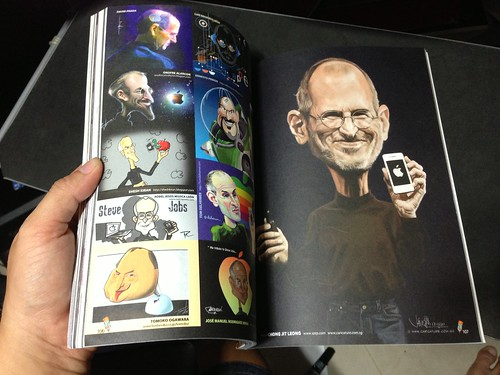 Jit's Steve Jobs digital caricature appeared on Sketchoholic Steve Jobs: Artist Tribute Book