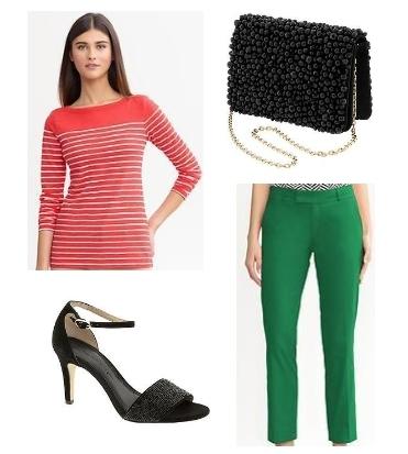 Hampton fit green crop pants