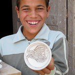 Egyptian Boy with Pottery - Tunis, Egypt