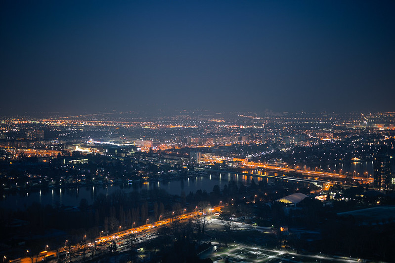 Vienna at night.