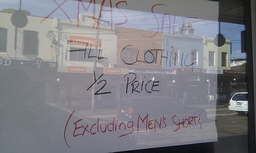 Excluding men's shorts
