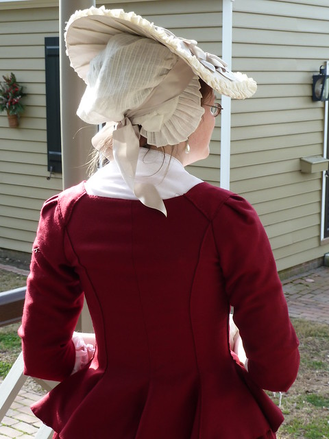 cranberry wool jacket, 1770s