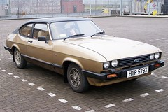 automobile, vehicle, ford capri, ford, antique car, sedan, land vehicle, coupã©, sports car,
