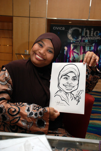 caricature live sketching for Civica Dinner & Dance 2012 - 20