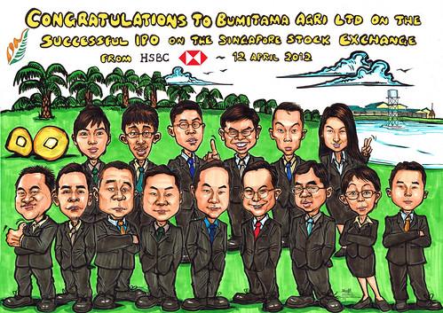 group caricatures for HSBC - Bumitama Agri (original)