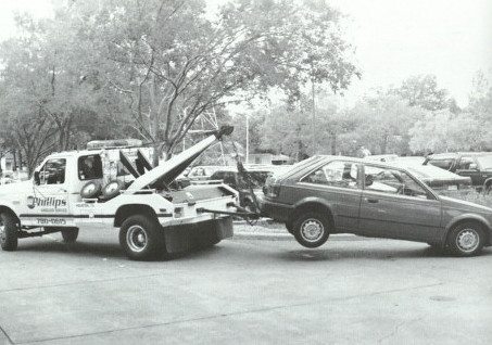 Towed car