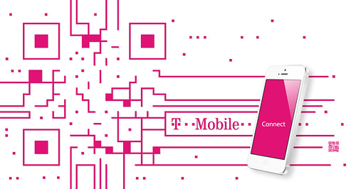 T-mobile QR code design by QRcanvas