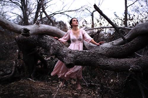 [フリー画像素材] 人物, 女性, 人物 - 森林, ワンピース・ドレス ID:201301101800