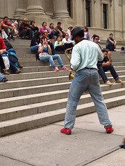 Street performance outside the Met, NYC