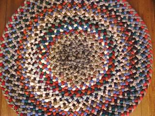 New Wool Braided Round Rug-Cinnamon Spice