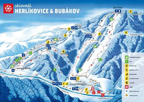 Herlíkovice Bubákov - mapa sjezdovek