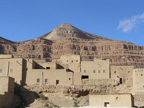 Aldea bereber en el Medio Atlas (Marruecos)