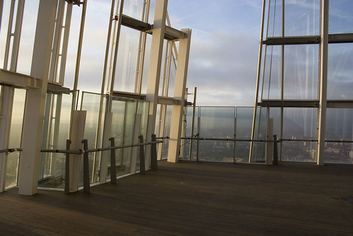 Level 72 of The Shard - open air floor