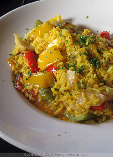 Veggie Paella at Rooster Creek Tavern
