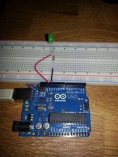 Erste Schaltung mit Arduino: Blinklicht