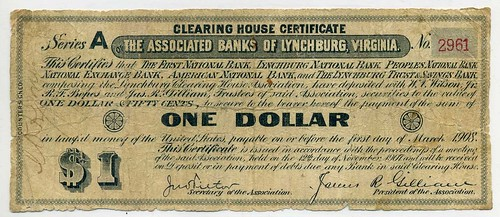 Lynchburg VA Clearing House certificate