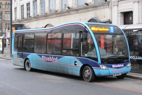 Bluebird Bus and Coach ML59 BLU, Piccadilly Gardens, Manchester