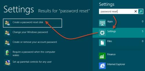 create a windows 8 password reset disk