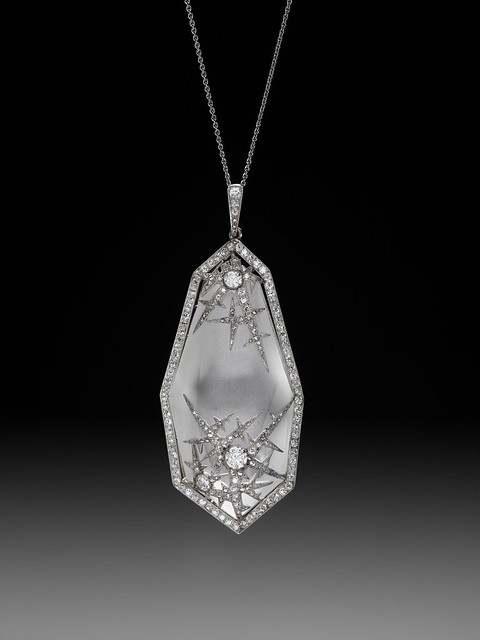 Ice Crystal Pendant by Faberge, workmaster Albert Holmstrom, St. Petersburg c 1913.