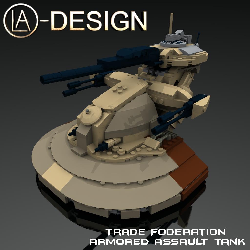 Lego Custom Star Wars Aat Tank 0 A Photo On Flickriver