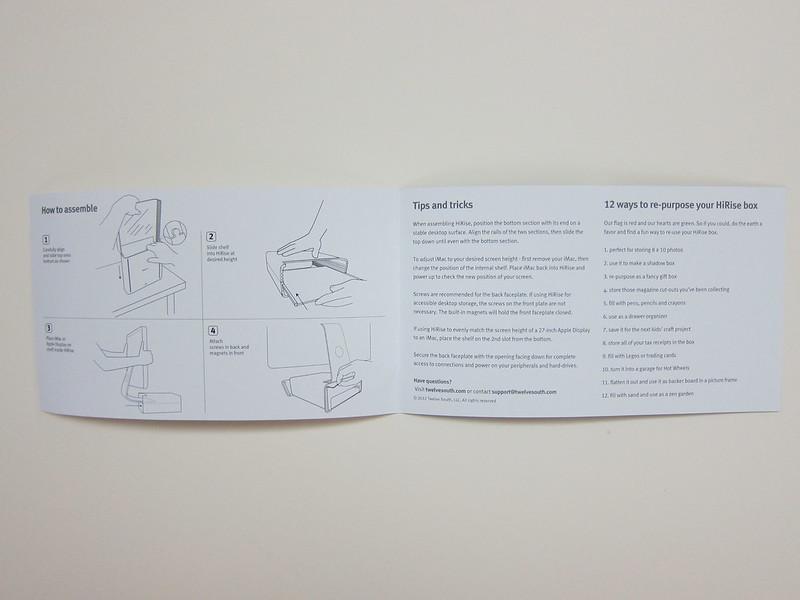 Twelve South HiRise for iMac - Instructions