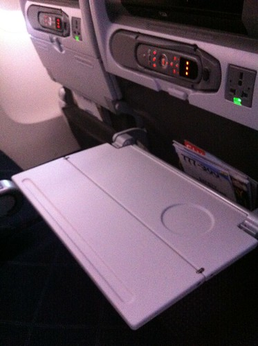 American Airlines 777-300ER tray