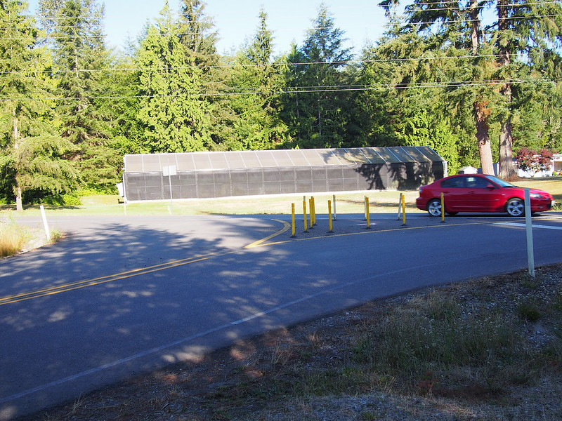Port Gamble Road & SR-307: This was originally a normal intersection, but work was done to disallow going straight across SR-307.