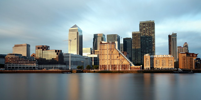 View on Canary wharf