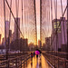 Rainy sunset on the Brooklyn Bridge by NYC♥NYC