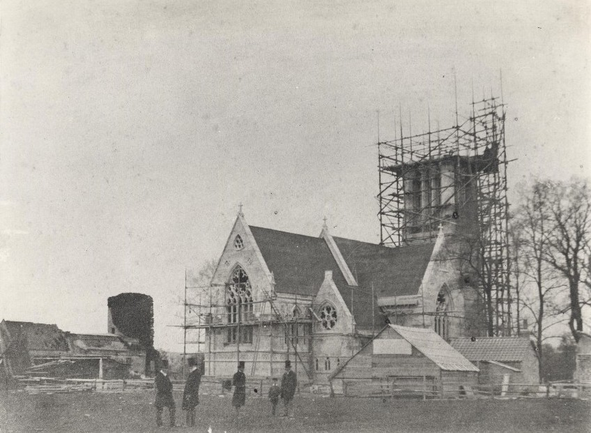 Construction of South Dalton Church 1860 (archive ref PE54-11-1)