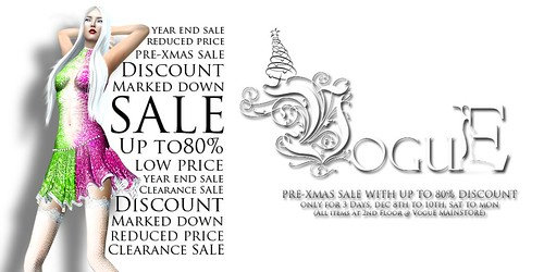 VoguE Pre Xmas Sale Poster