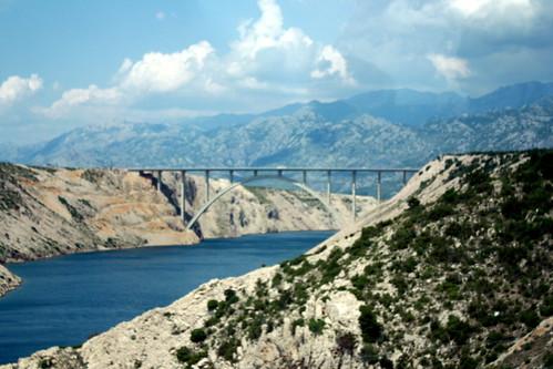 croatia landschaft hrvatska brücken kroatien maslenica