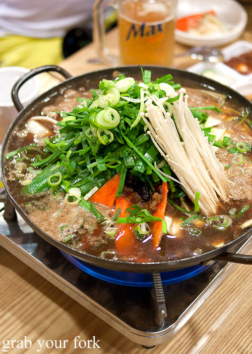 bulgogi hot pot at naruone one pitt street sydney