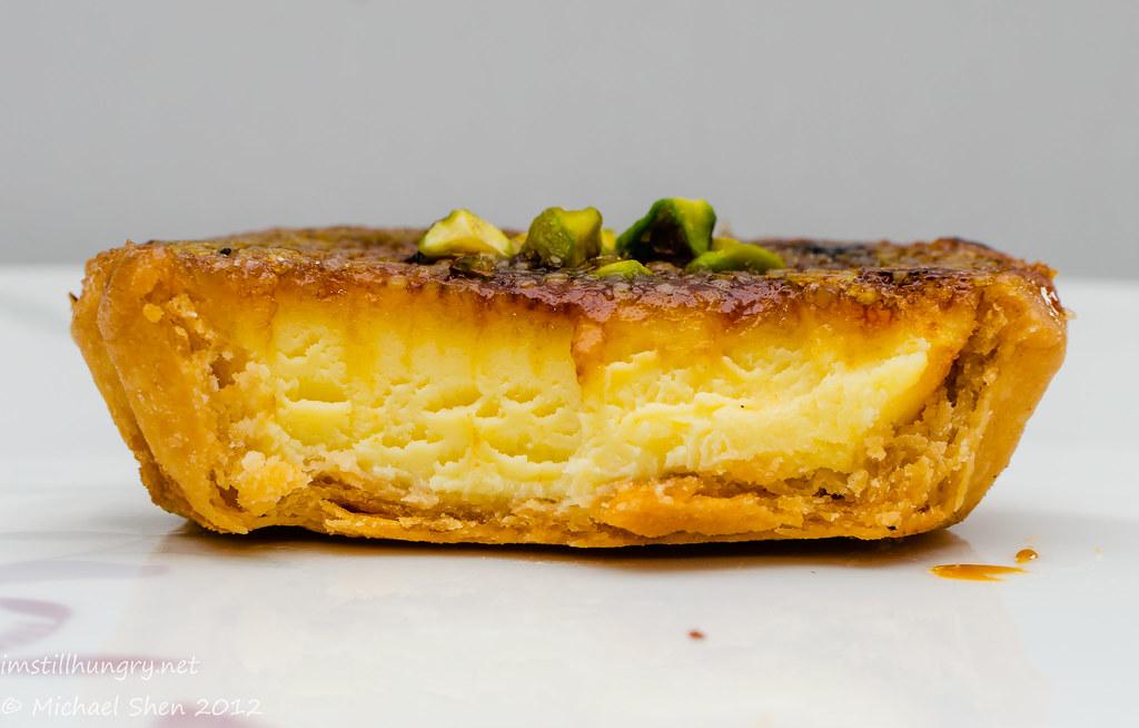 Bourke St Bakery - inside of the ginger brulée tart