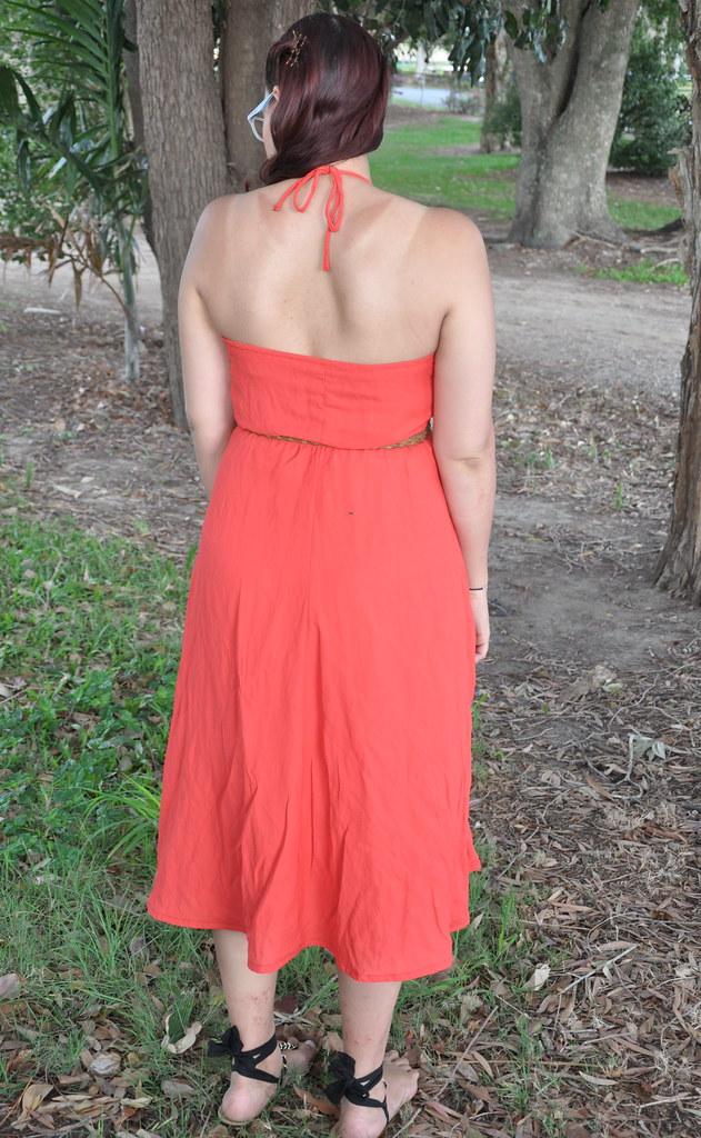 1970s orange dress