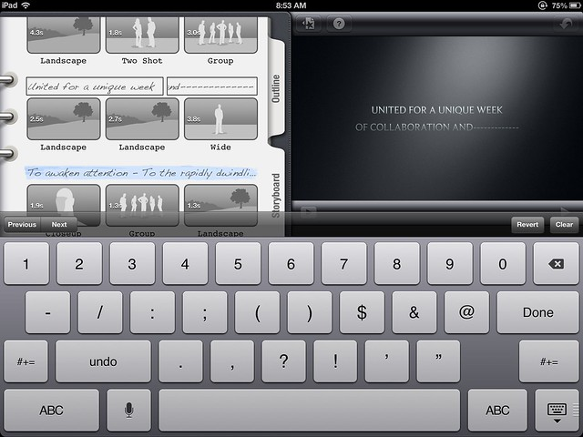 iPad iMovie Templates