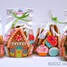 Candy themed Gingerbread cookie gift bags ©Cookievonster2012