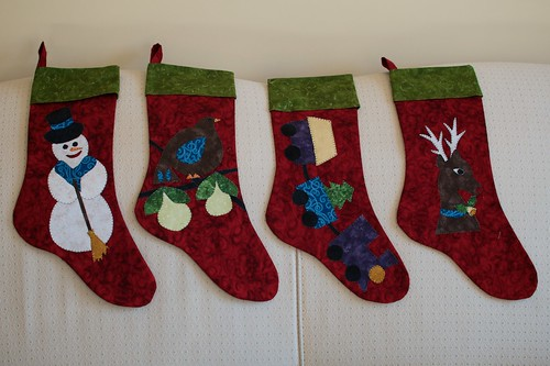 The finished family stockings