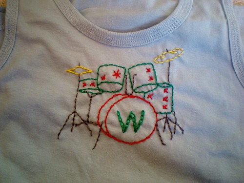 Embroidered Drum Kit