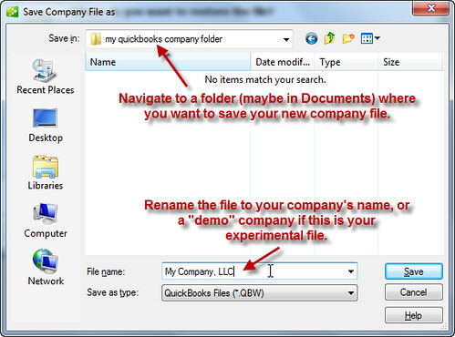 How To Import the Sample and Template Company File
