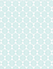 5 Batik Flower Snowflakes - standard or letter size 350dpi