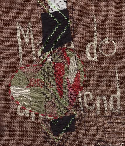 odd stitch mending