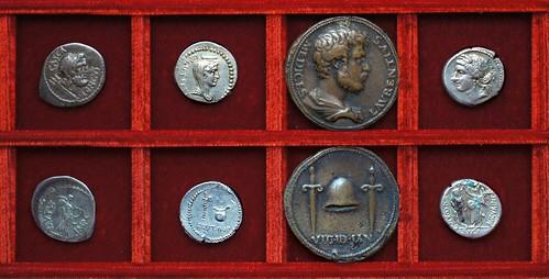 RRC 507 CASCA LONGVS Brutus, Servilia, RRC 508 L.PLAET CEST Brutus, Plaetoria, Medici medal, RRC 509 Q.CORNVFICI Cornuficius, Ahala collection Roman Republic