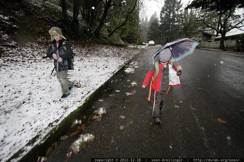 boys walking to school in the falling snow    MG 0579