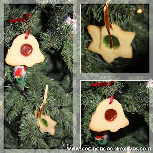 Galletas de cristal para el árbol