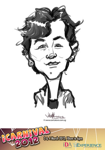 digital live caricature for iCarnival 2012  (IDA) - Day 1 - 74
