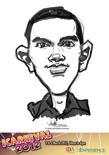 digital live caricature for iCarnival 2012  (IDA) - Day 1 - 91