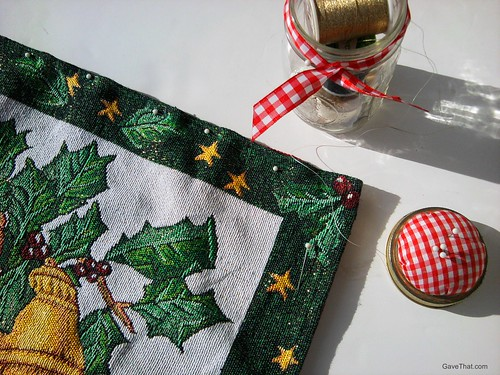 Sewing a DIY Holiday Pillow